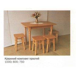 Кухонный комплект стол + 4 табурета