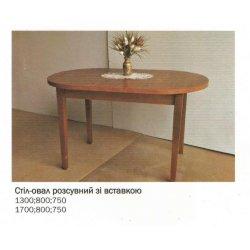 Овальный раскладной стол купить недорого Барвинок