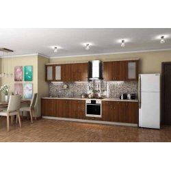 """Кухня """"Модест"""" коричневая прямая, 3700 мм"""