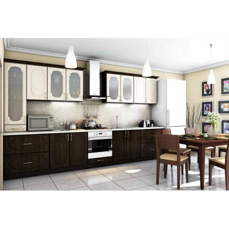 Кухня Сансет Гарант клен светлый - венге темный 3800 мм