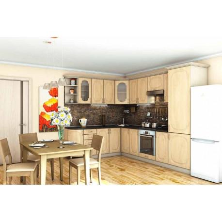 Кухня Сансет Гарант угловая яблоня светлая