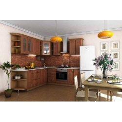 Кухня Сансет (Гарант) угловая вишня форема