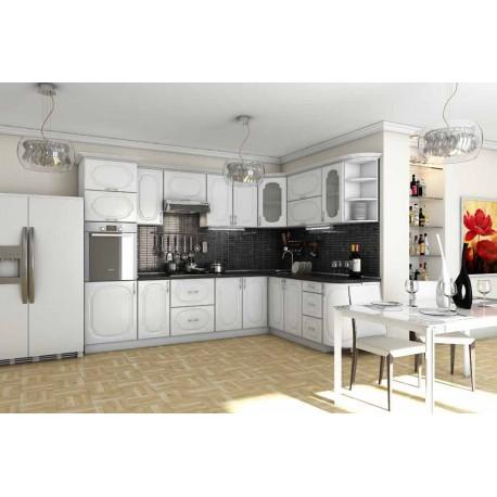 Кухня Сансет (Гарант) белая фото