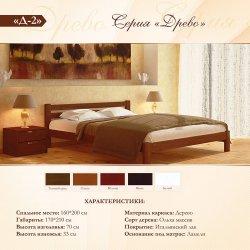 Кровать деревянная классическая Д-2 Гармония