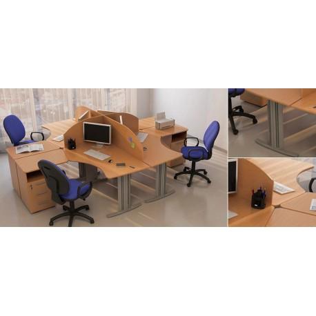 Четырехместный стол для персонала Техно-плюс фото