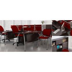 """Угловой стол для персонала, серия """"Техно-плюс"""" (M-Concept)"""