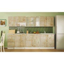 Модульная кухня Алина мрамор темный фото