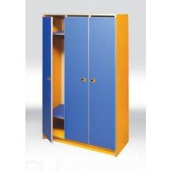 Шкафчик для детсада 3-местный