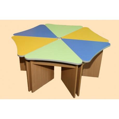 Стол для детского сада Лепесток (Гелика) фото