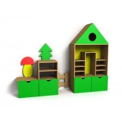 Детская игровая стенка Деревенька фото