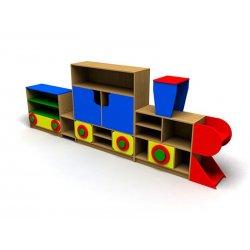 """Стенка для детского сада """"Паровозик"""""""