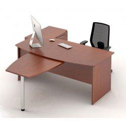 Угловой офисный стол с приставкой Атрибут 1 (M-Concept)