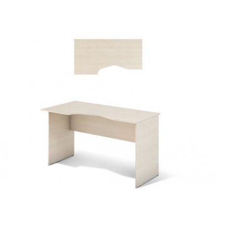 Офисный стол с выемкой Сенс S1.22.13 (M-Concept)