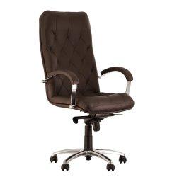 Кресло руководителя Cuba / Куба Steel chrome (Новый стиль)