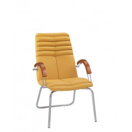 Конференц-стул Galaxy / Галакси Wood CFA LB chrome (Новый стиль)