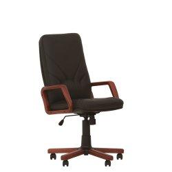 Кресло руководителя Manager / Менджер EX c деревянными подлокотниками (Новый стиль)