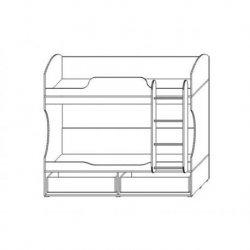 Кровать двухъярусная Домино