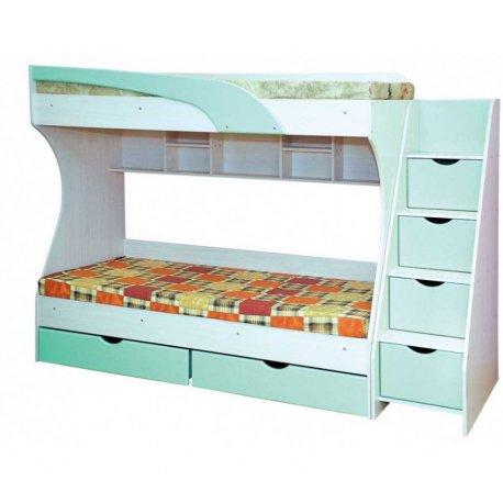 Двухярусная кровать с лестницей Кадет фото