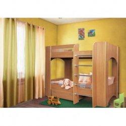 Детская двухъярусная кровать Дуэт-2 с ящиком